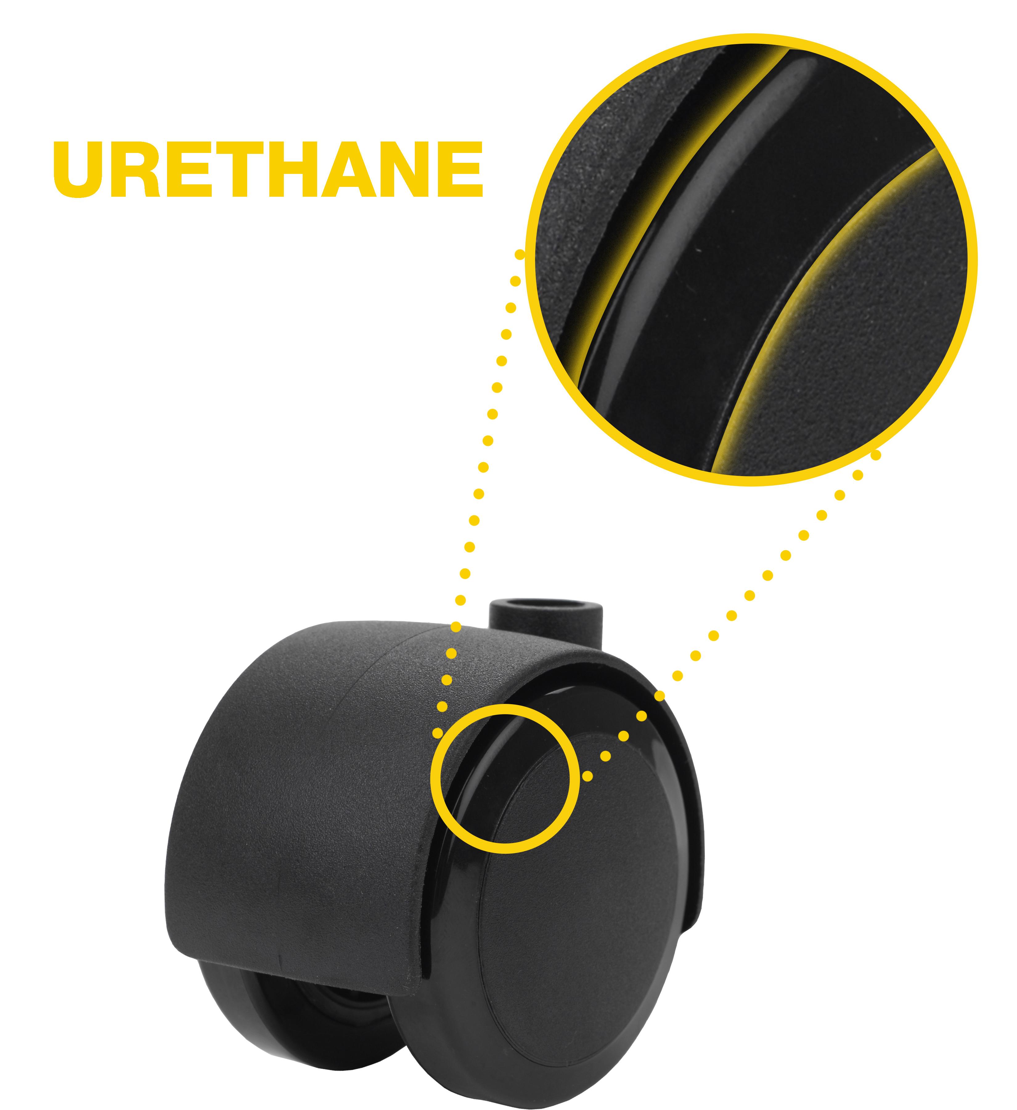 urethane tread caster wheel