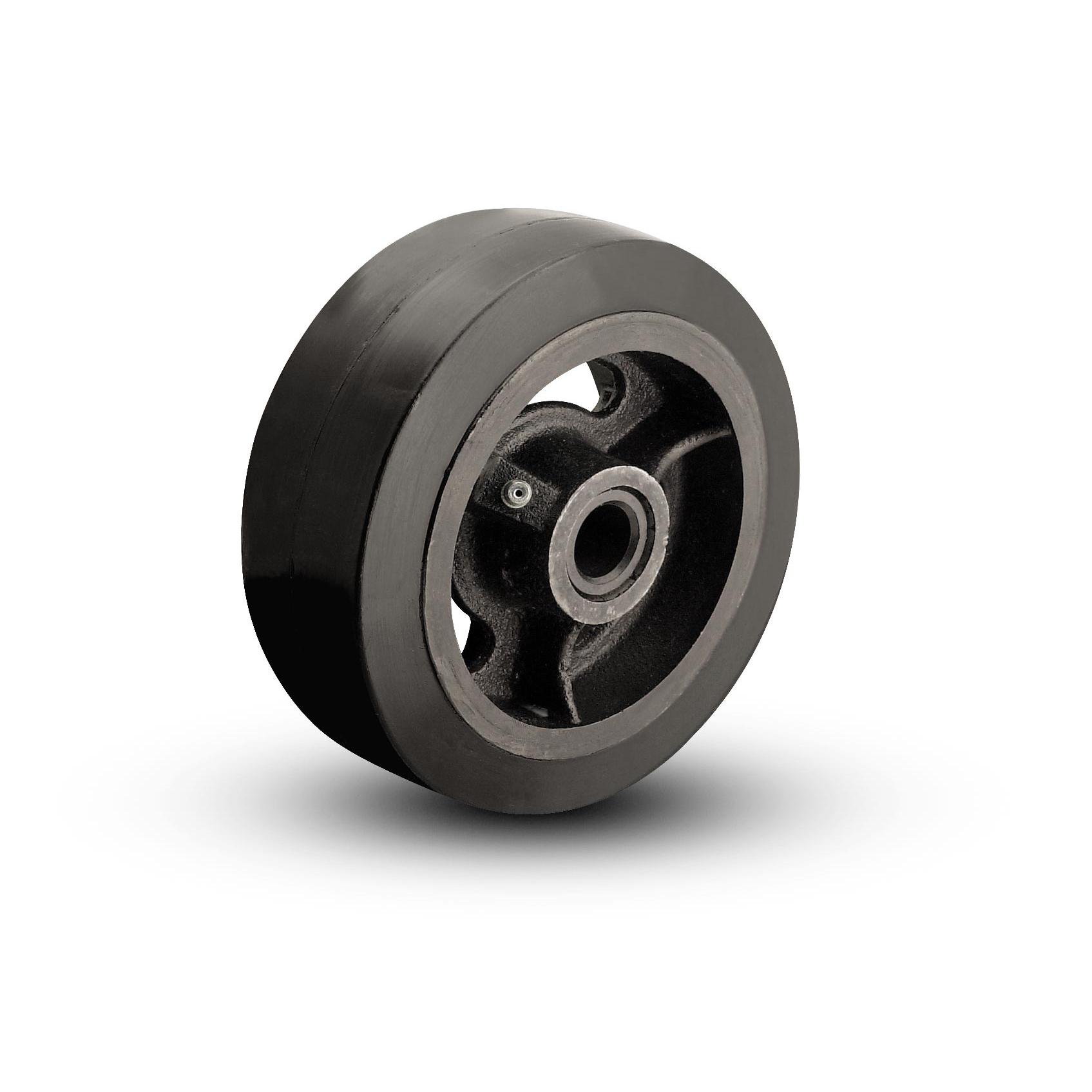 Rubber on Cast Iron Wheels