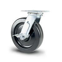 Phenolic swivel caster with brake