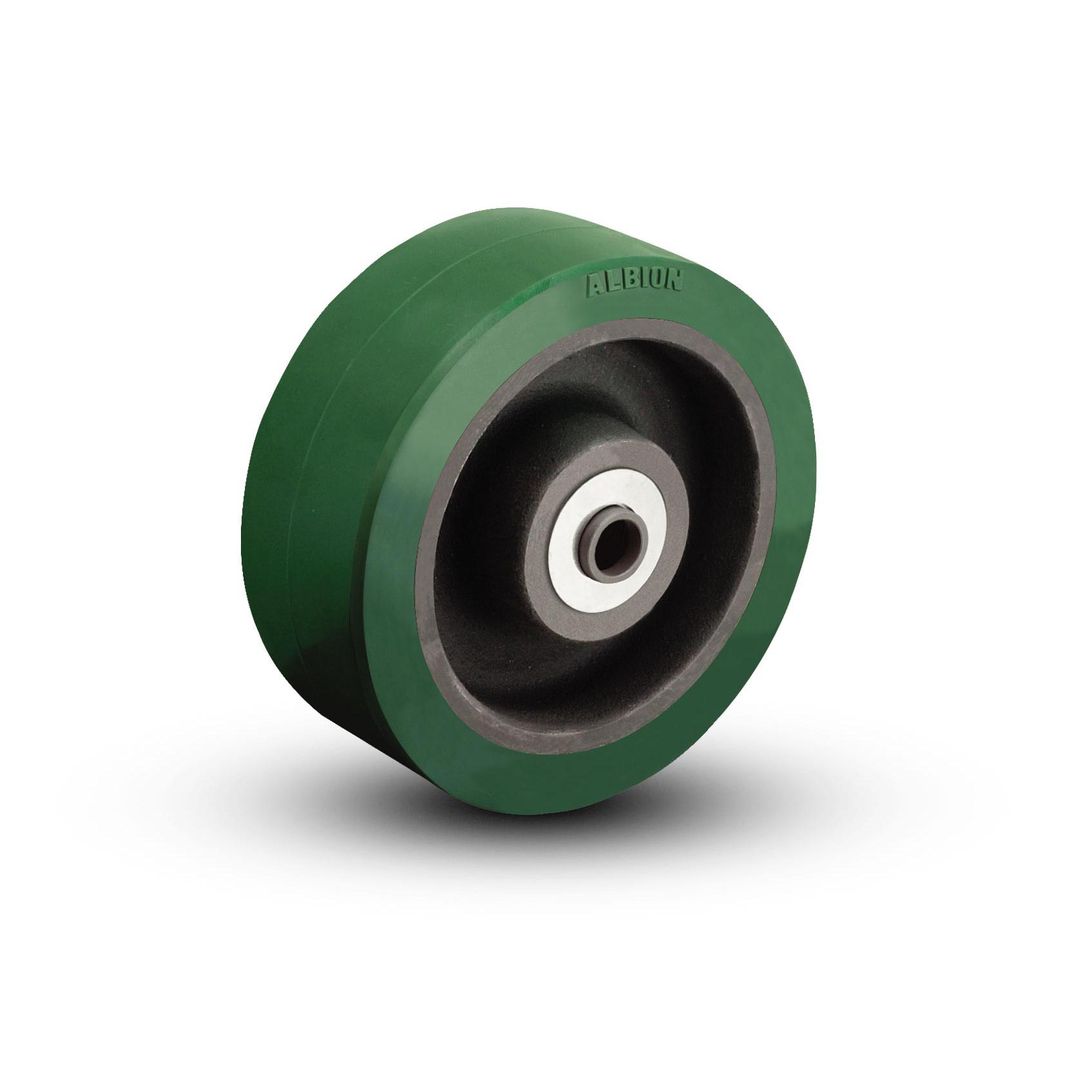 Thick Tread Polyurethane on Cast Iron Wheels