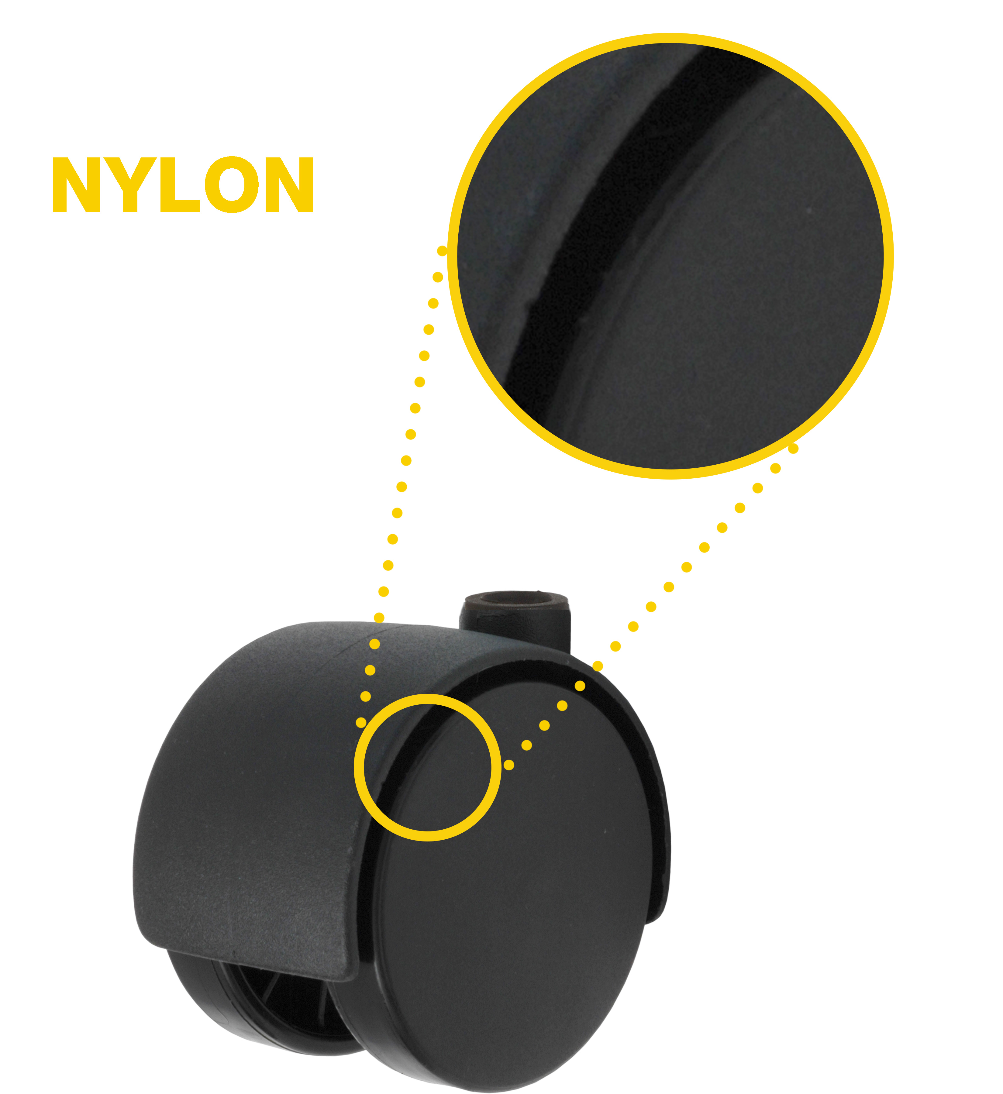 nylon tread caster wheel